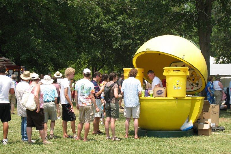 3 festival for the eno 2008 born geek photography for Lemon shaped lemonade stand
