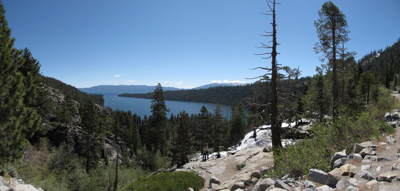 Emerald Bay and Eagle Falls panorama