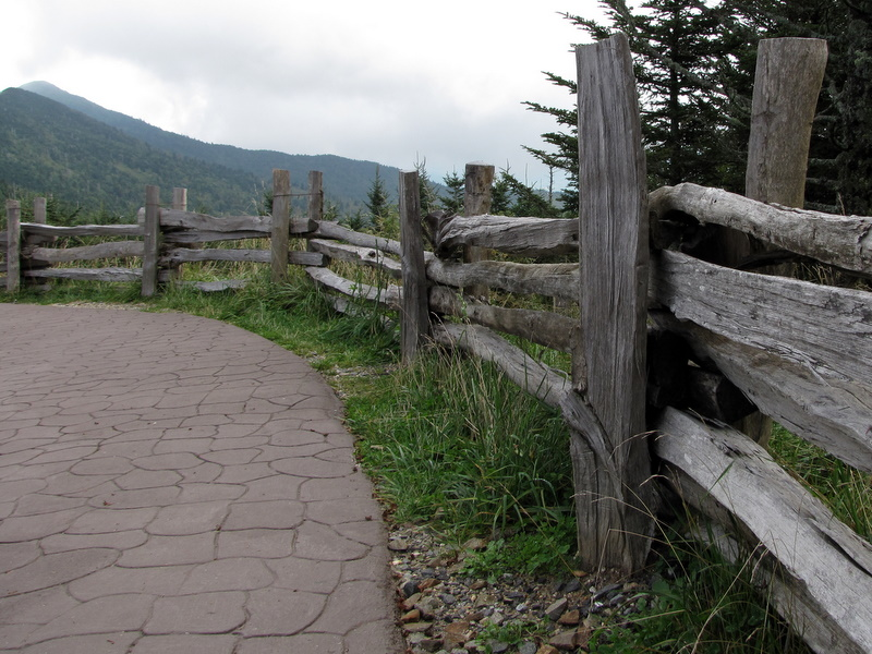 Fence along the hiking trail